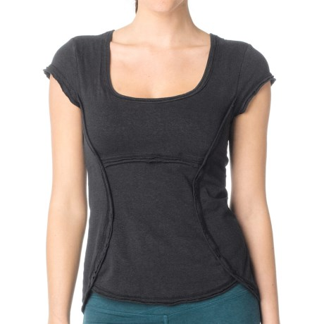 prAna Katarina Yoga Top - Short Sleeve (For Women) in Black