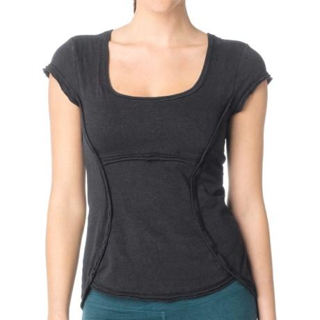 prAna Katarina Yoga Top - Short Sleeve (For Women) in Blk Black