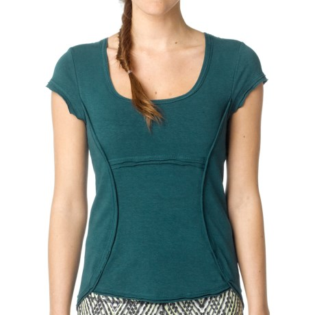 prAna Katarina Yoga Top - Short Sleeve (For Women) in Deep Teal
