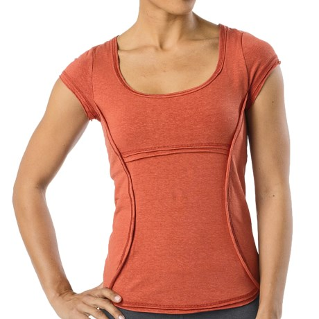 prAna Katarina Yoga Top - Short Sleeve (For Women) in Indian Red