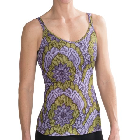 prAna Katie Tank Top - Recycled Materials, Shelf Bra (For Women) in Lupine Scallop