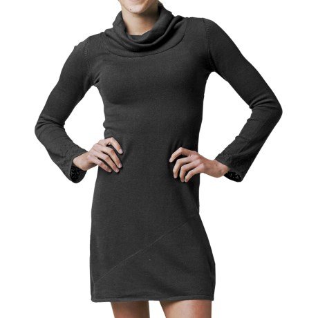 prAna Kaya Sweater Dress - Long Sleeve (For Women) in Black