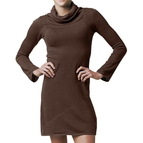prAna Kaya Sweater Dress - Long Sleeve (For Women) in Espresso