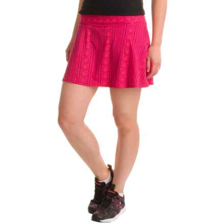 prAna Keely Skort (For Women) in Fuchsia Lace - Closeouts