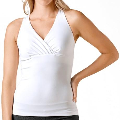 prAna Kira Tank Top - Built-In Shelf Bra (For Women) in White