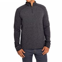 prAna Korven Sweater - Zip Neck (For Men) in Charcoal - Closeouts
