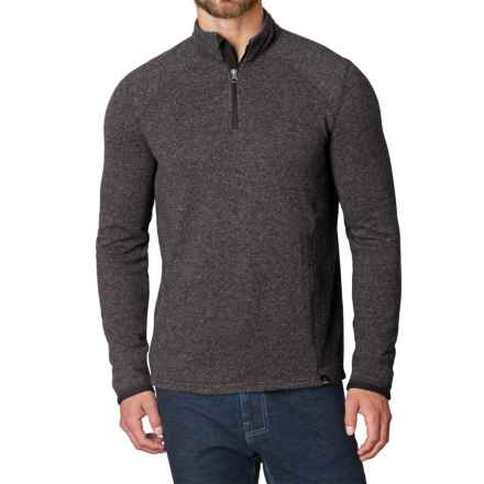 prAna Korven Sweater - Zip Neck (For Men) in Grey - Closeouts