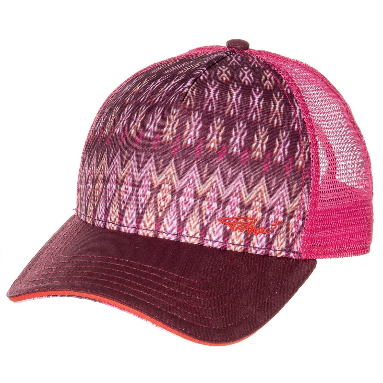 28ad1b09974 prAna La Viva Trucker Hat (For Women) in Black Cherry Izabal ...
