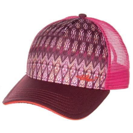 fc4a50bba8db5 prAna La Viva Trucker Hat (For Women) in Black Cherry Izabal - Closeouts