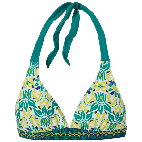 prAna Lahari BikiniTop - UPF 30+, Halter (For Women) in Dragonfly Lotus