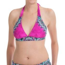 prAna Lahari BikiniTop - UPF 30+, Halter (For Women) in Fuchsia Namaste