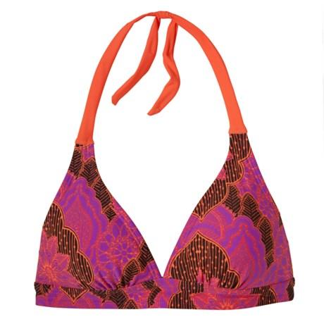 prAna Lahari BikiniTop - UPF 30+, Halter (For Women) in Dragonfly Lotus