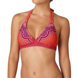 prAna Lahari BikiniTop - UPF 30+, Halter (For Women) in Neon Orange Jasmine