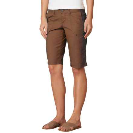 prAna Larissa Knicker Shorts - Low Rise (For Women) in Tree Bark - Closeouts