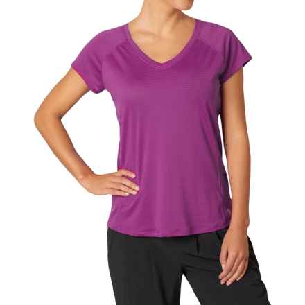 prAna Lattice Shirt - Short Sleeve (For Women) in Rich Fuchsia - Closeouts