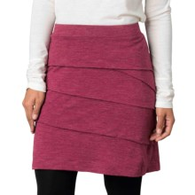 prAna Leah Tiered Skirt (For Women) in Plum Red - Closeouts