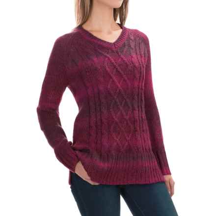 prAna Leisel Sweater (For Women) in Black Plum - Closeouts