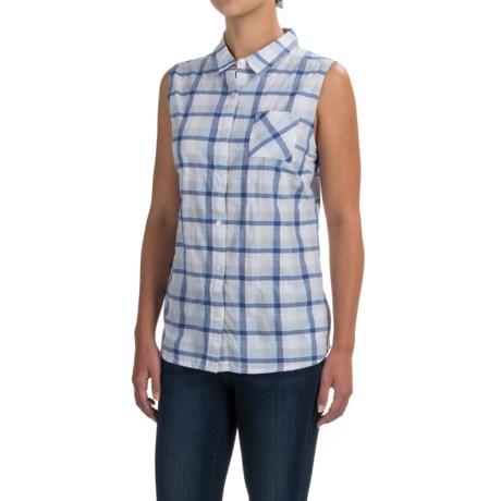 prAna Lexi Shirt - Organic Cotton, Sleeveless (For Women) in Cobalt