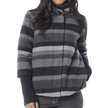 prAna Lily Jacket - Insulated, Wool Blend (For Women) in Coal - Closeouts
