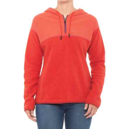 prAna Liora Fleece Hoodie (For Women) in Fiery Red - Closeouts