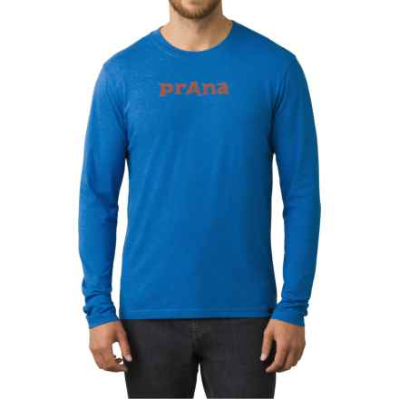 prAna Logo Shirt - Organic Cotton Blend, Long Sleeve (For Men) in Classic Blue - Closeouts