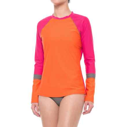 prAna Lorelei Rash Guard - UPF 50+, Long Sleeve (For Women) in Electric Orange - Closeouts
