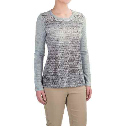 prAna Lottie Burnout Shirt - Long Sleeve (For Women) in Greystone - Closeouts