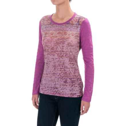 prAna Lottie Burnout Shirt - Long Sleeve (For Women) in Vivid Viola - Closeouts