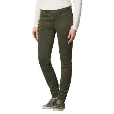 prAna Louisa Pants - Organic Cotton, Skinny Leg (For Women) in Dark Olive - Closeouts