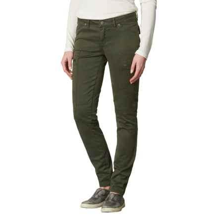 prAna Louisa Pants - Organic Cotton, Skinny Leg (For Women) in Dark Olive - Closeouts