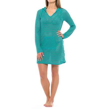 prAna Luiza Hooded Tunic Swimsuit Cover-Up - Long Sleeve (For Women) in Dragonfly - Closeouts