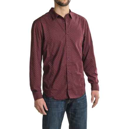 prAna Lukas Shirt - Organic Cotton, Long Sleeve (For Men) in Eggplant - Closeouts