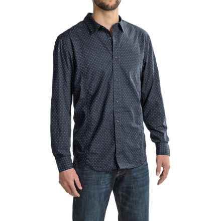 prAna Lukas Shirt - Organic Cotton, Long Sleeve (For Men) in Nautical - Closeouts