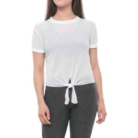 prAna Lynette Shirt - Short Sleeve (For Women) in White - Closeouts
