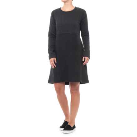 prAna Macee Dress - Long Sleeve (For Women) in Black - Closeouts