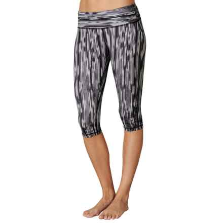 prAna Maison Knicker Capris (For Women) in Black Rainblur - Closeouts