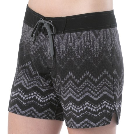 prAna Makenna Boardshorts - UPF 30+ (For Women) in Gravel