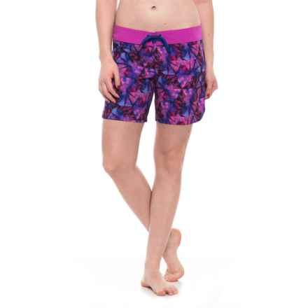 prAna Makenna Boardshorts - UPF 30+ (For Women) in Supernova Pinwheel - Closeouts