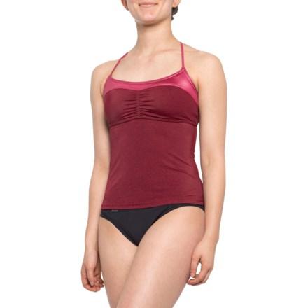 4ab18103db371 prAna Makoa Tankini Top - UPF 50+ (For Women) in Crimson - Closeouts