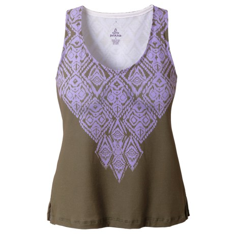 prAna Malina Tank Top - V-Neck, Sleeveless (For Women) in Dahlia Indie