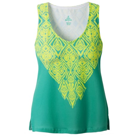 prAna Malina Tank Top - V-Neck, Sleeveless (For Women) in Limeade Indie
