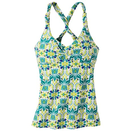 prAna Manori Tankini Top - UPF 30+ (For Women) in Dragonfly Lotus