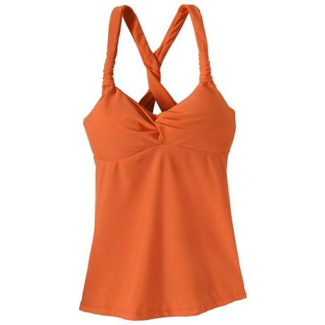 prAna Manori Tankini Top - UPF 30+ (For Women) in Neon Orange