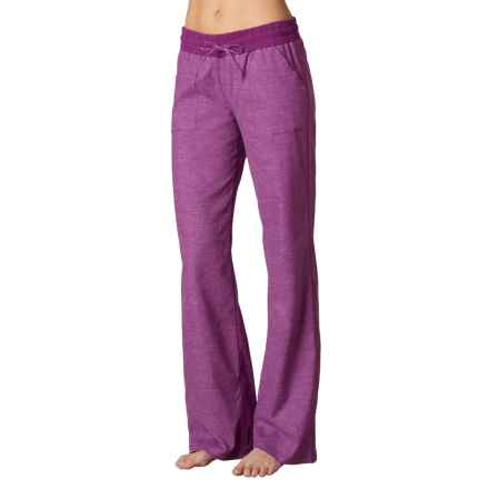 prAna Mantra Pants - Hemp, Relaxed Fit (For Women) in Light Red Violet - Closeouts