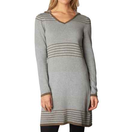 prAna Mariette Hooded Dress - Organic Cotton, Long Sleeve (For Women) in Heather Grey - Closeouts