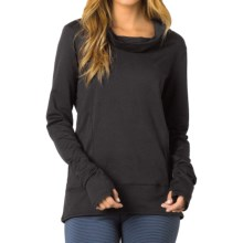 prAna Marin Shirt - Cowl Neck, Long Sleeve (For Women) in Black - Closeouts