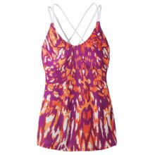 prAna Mariposa Tank Top (For Women) in Berry Marble - Closeouts