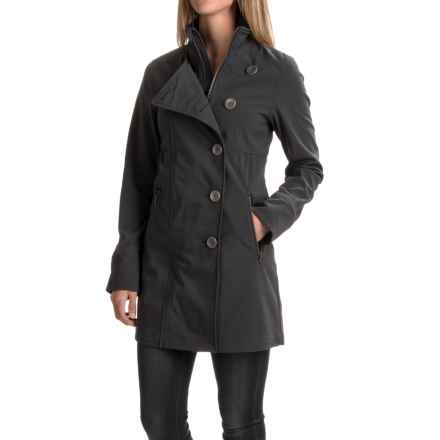 prAna Martina Long Jacket - Side Button (For Women) in Coal - Closeouts