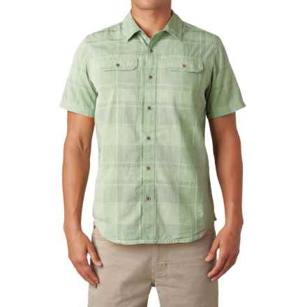 prAna Marvin Shirt - Button Up, Short Sleeve (For Men) in Green Tint - Closeouts