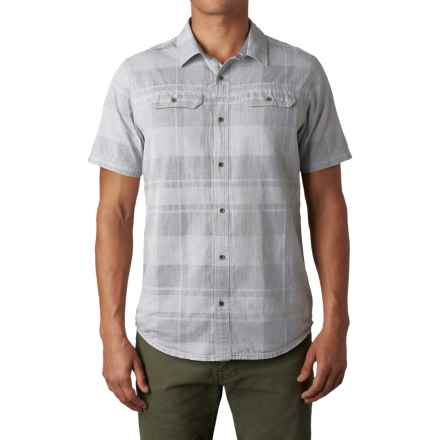 prAna Marvin Shirt - Button Up, Short Sleeve (For Men) in Silver - Closeouts